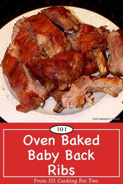 image for Pinterest of oven baked baby back ribs