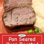 graphic for pinterest of pork tenderloin