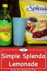 Graphic for Pinterest of Splenda Lemonade