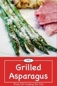 image for Pinterest of Grilled Asparagus