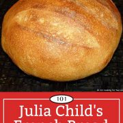 Graphic for Pinterest of Julia Child's French Bread
