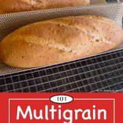 graphic for Pinterest of Multigrain Bread