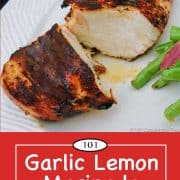graphic for Pinterest for chicken marinade