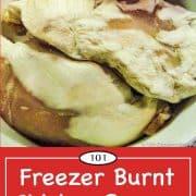 Graphic for freezer burnt chicken