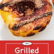 graphic for Pinterest for grilled peaches
