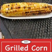 Graphic for Pinterest of Grilled Corn