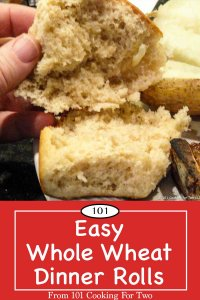 Graphic for Pinterest of Easy Whole Wheat Rolls