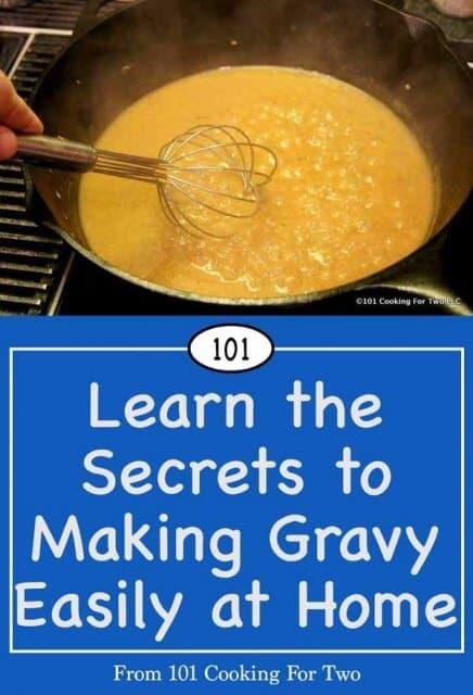 image for Pinterest of how to make gravy