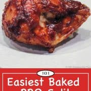 Graphic for Pinterest of BBQ chicken Breast