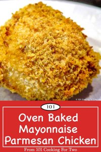image for Pinterest for Oven Baked Mayonnaise Parmesan Split Chicken Breasts