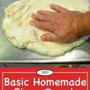graphic for Pinterest of Basic Homemade Pizza Dough