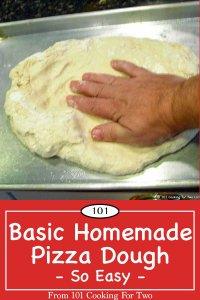 graphic for Pinterest of Basic Homemade Pizza Dough
