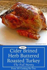 image for Pinterst of Cider Brined Herb Butter Turkey