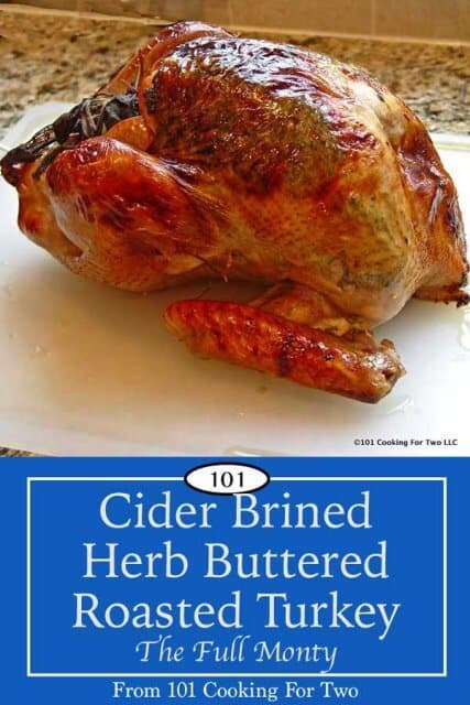 image for Pinterst of Cider Brined Herb Butter Turkey