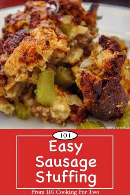 image for pinterest for Sausage Stuffing