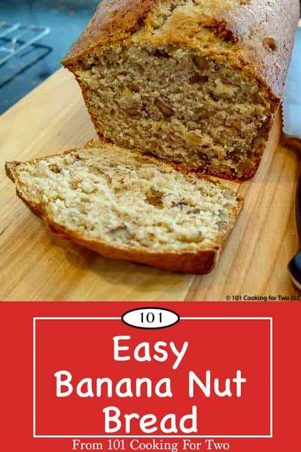 Just like grandma made, this easy banana nut bread is so moist and tasty you will do this over and over. Just follow these simple step by step photo instructions. #BananaNutBread #BananaBread #EasyBananaNutBread