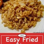 Image for Pinterest of Easy Fried Rice