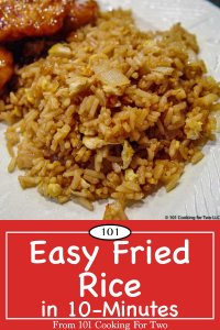 Image for Pinterest of Easy Fried Rice