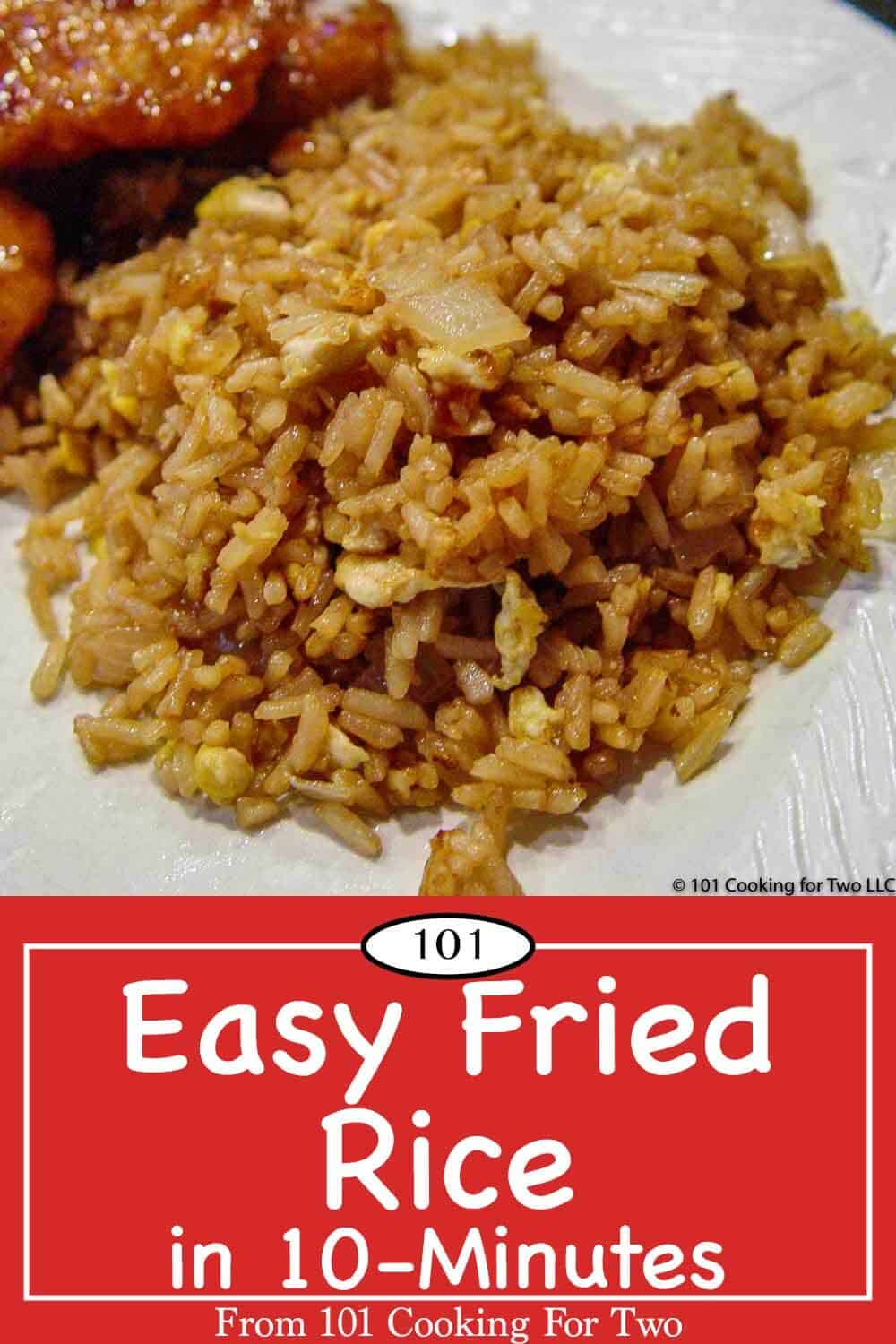 An easy fried rice recipe using Minute Rice for that