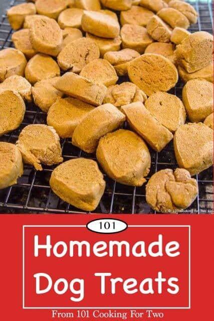 image for Pinterest of Homemade Dog Treats