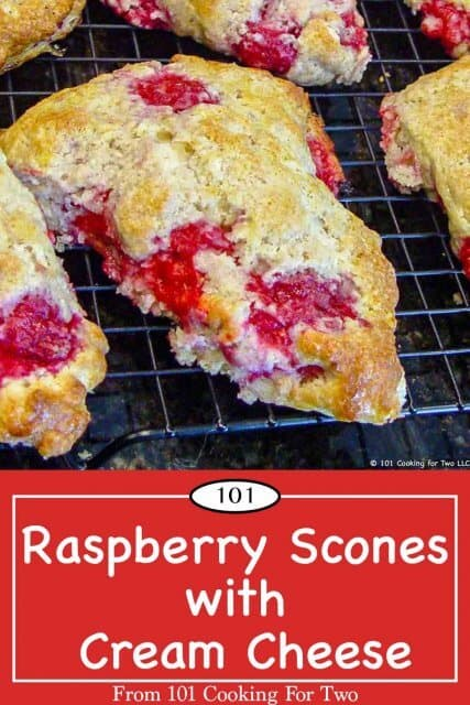 graphic for Pinterest for Raspberry Scones