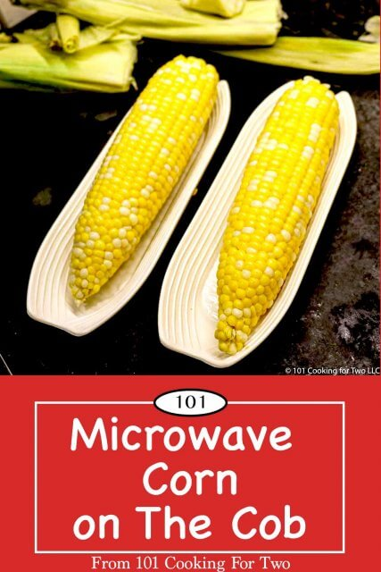 graphic for Pinterest of Microwave Corn on the Cob