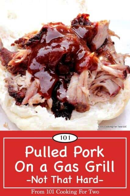 Pinterest image for Pulled Pork on a Gas Grill