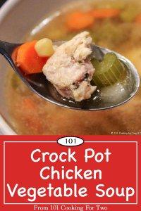 Pinterest image for Chicken Vegetable Soup