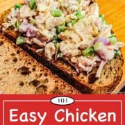 Graphic for Pinterest for chicken salad