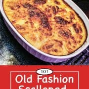 graphic for Pinterest of Scalloped Potatoes