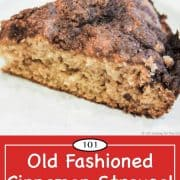 graphic for Pinterest of coffee cake