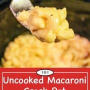 pinterest image for crock pot mac and cheese