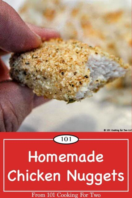 pinterest image for homemade chicken nuggets