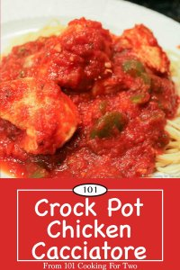 Graphic for Pinterest for Crock Pot Chicken Cacciatore