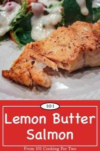 image for Pinterest of Lemon Butter Salmon
