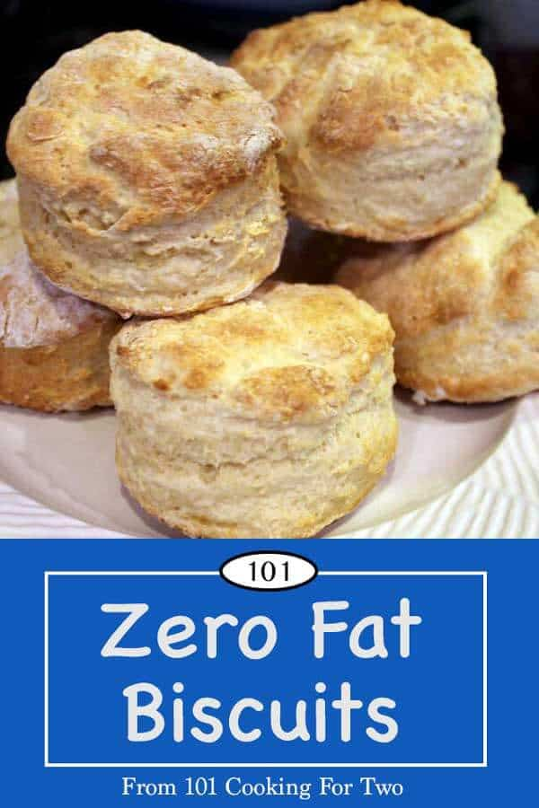 Tender and fluffy with really good taste in a non-guilty zero fat biscuit. Just follow these easy step by step photo instructions. #ZeroFatBiscuits #LowFatBiscuits