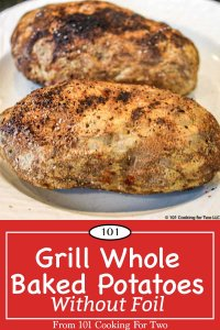 Image for Pinterest for grilled whole potatoes