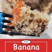 graphic for Pinterest for Banana Nut Cake