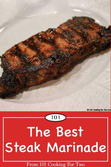 pinterest graphic for steak marinade