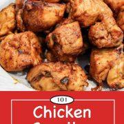 Pinterest graphic for Chicken Carnitas