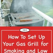 Graphic for gas grill smoking