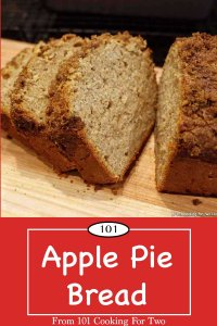 Graphic for Pinterest of Apple Pie Bread