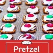Graphic for Pinterest of Pretzel Candies