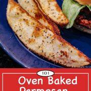 Graph for Pinterest for Baked Parmesan Potato Wedges