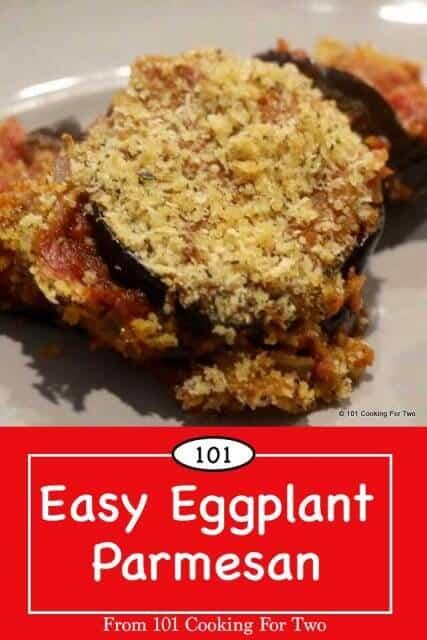 image for Pinterest of Eggplant Parmesan