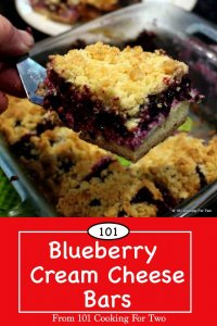 image for Pinterest of Blueberry Cream Cheese Bars