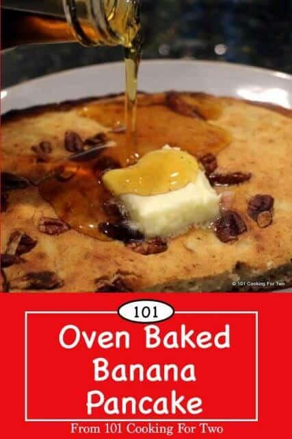Image for Pinterest of Oven Baked Banana Pancake