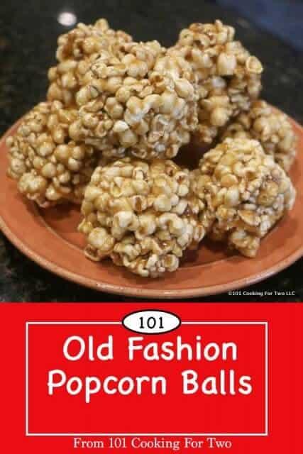 image for Pinterest of Popcorn Balls