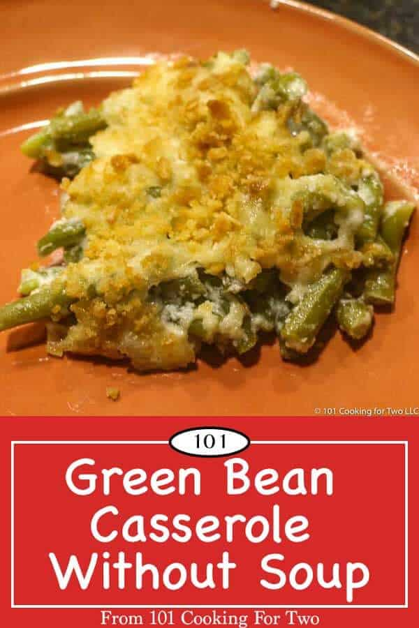 Now you can enjoy a great green bean casserole without the mandatory cream of mushroom soup. Just follow these easy step by step photo instructions. #GreenBeanCasserole #GreenBeanCasseroleWithoutSoup #ThanksgivingRecipe