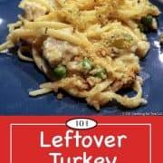 image for pinterest of leftover turkey tetrazzini